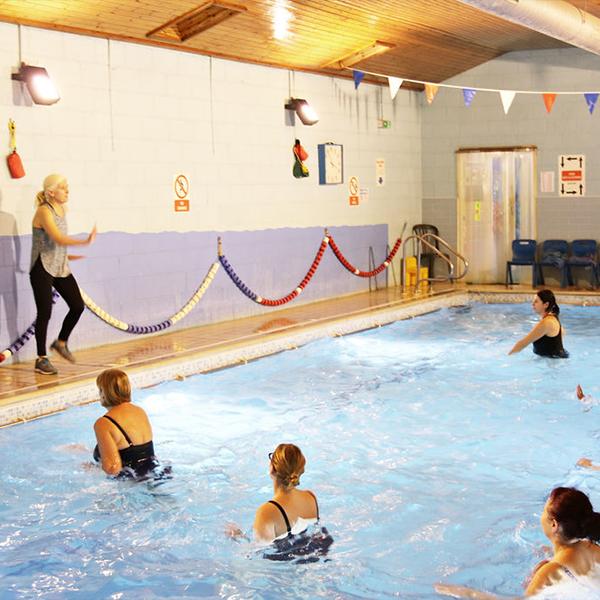 aqua aerobic class